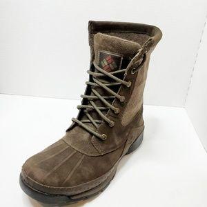 Men's Columbia Omni Heat Waterproof Brown Boots
